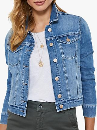 Mint Velvet Authentic Denim Jacket, Blue