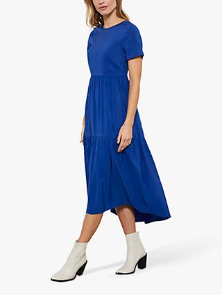 Mint Velvet Azure Midi Dress, Blue/Multi