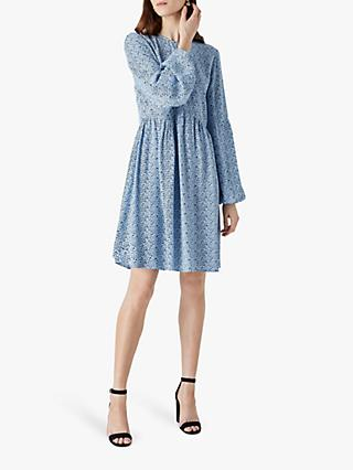 Finery Cassie Dalmatian Spot Dress, Blue