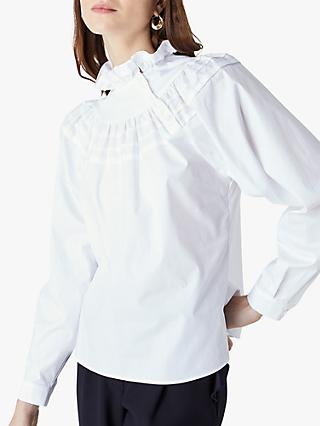 Finery Jaymee Ruffle Neck Shirt