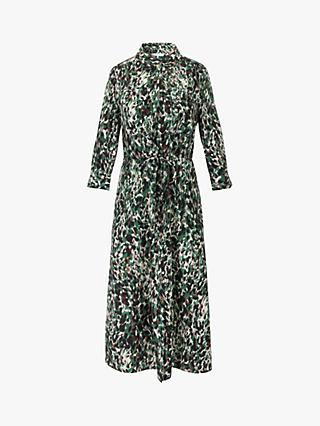 Gerard Darel Simona Animal Midi Dress, Green