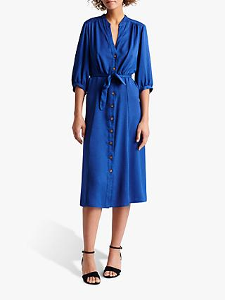 Gerard Darel Settima Abstract Midi Dress, Blue