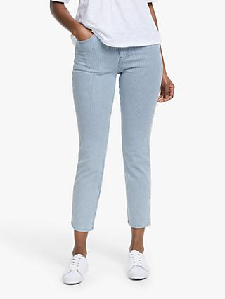 Boden Slim Skimmer Ticking Stripe Crop Jeans, Blue
