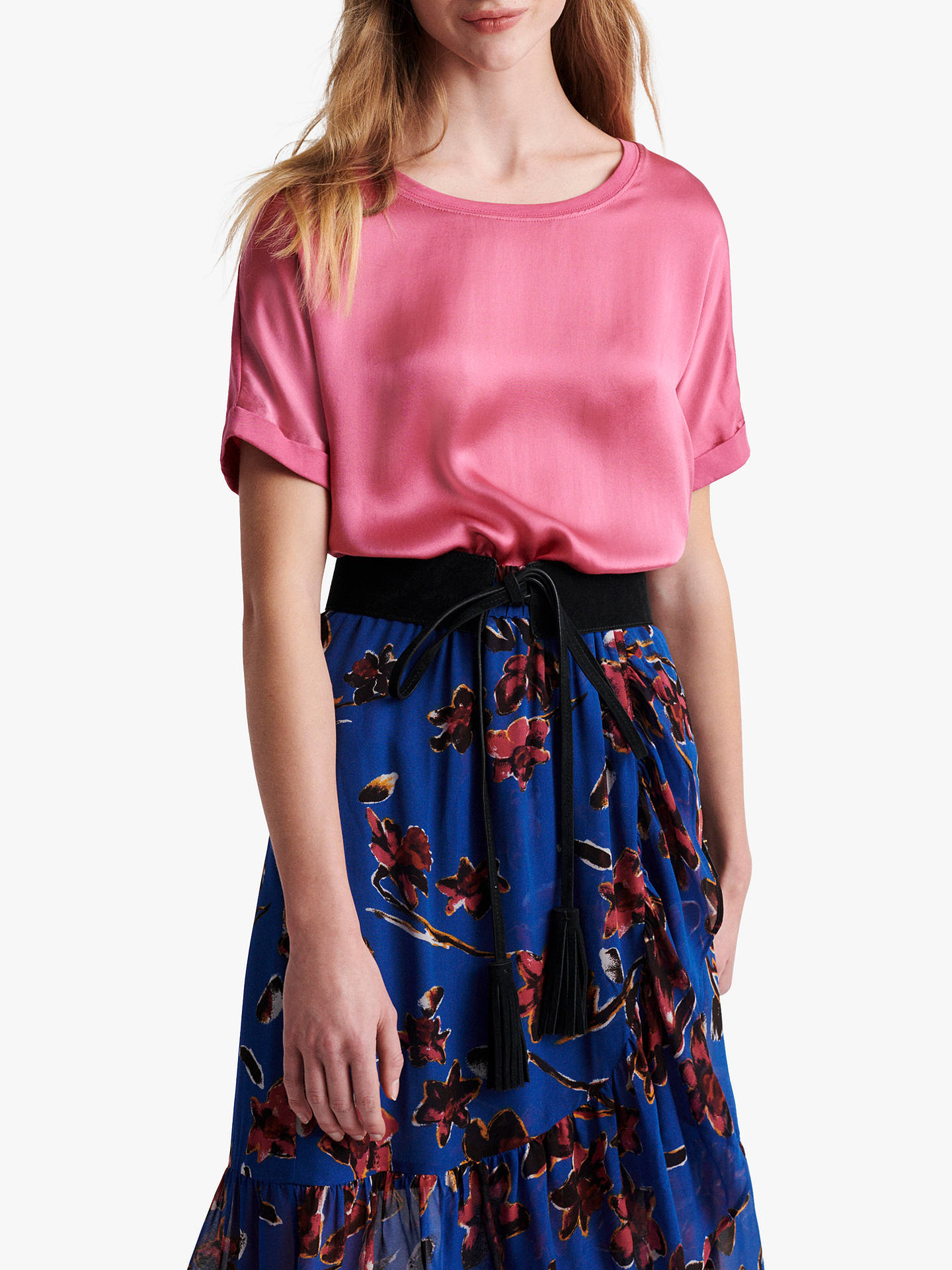 Buy Gerard Darel Juliane Cotton T-Shirt, Pink, 8 Online at johnlewis.com