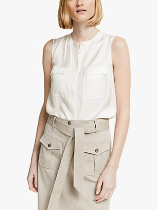 Boden Petronella Sleeveless Top, Ivory