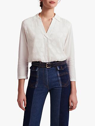 Gerard Darel Jannie Cotton Shirt, Ecru