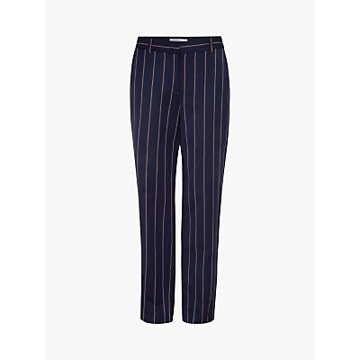 Gerard Darel Mirella Pinstripe Trousers, Blue