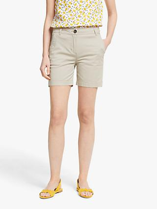 Boden Daisy Chino Shorts, Soft Stone
