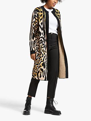 Somerset by Alice Temperley Intarsia Leopard Cardigan, Multi