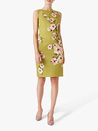 Hobbs Moira Floral Print Dress, Spring Green/Blush