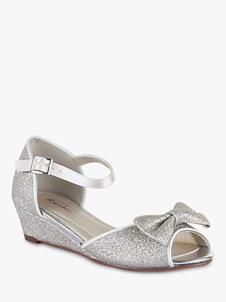 Rainbow Club Kirsty Bridesmaids' Shoes, Silver Shimmer