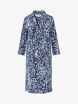 Gerard Darel Solange Abstract Print Dress, Blue/Multi