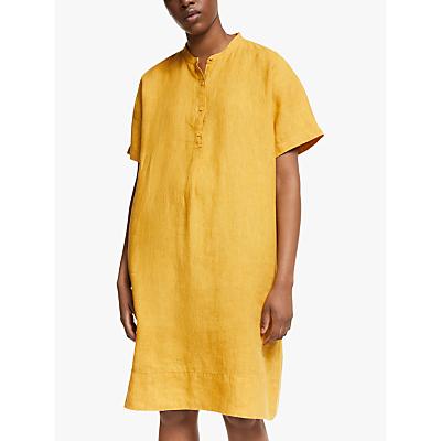 eileen fisher linen shift dress