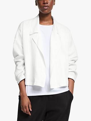 EILEEN FISHER Drop Front Jacket, White