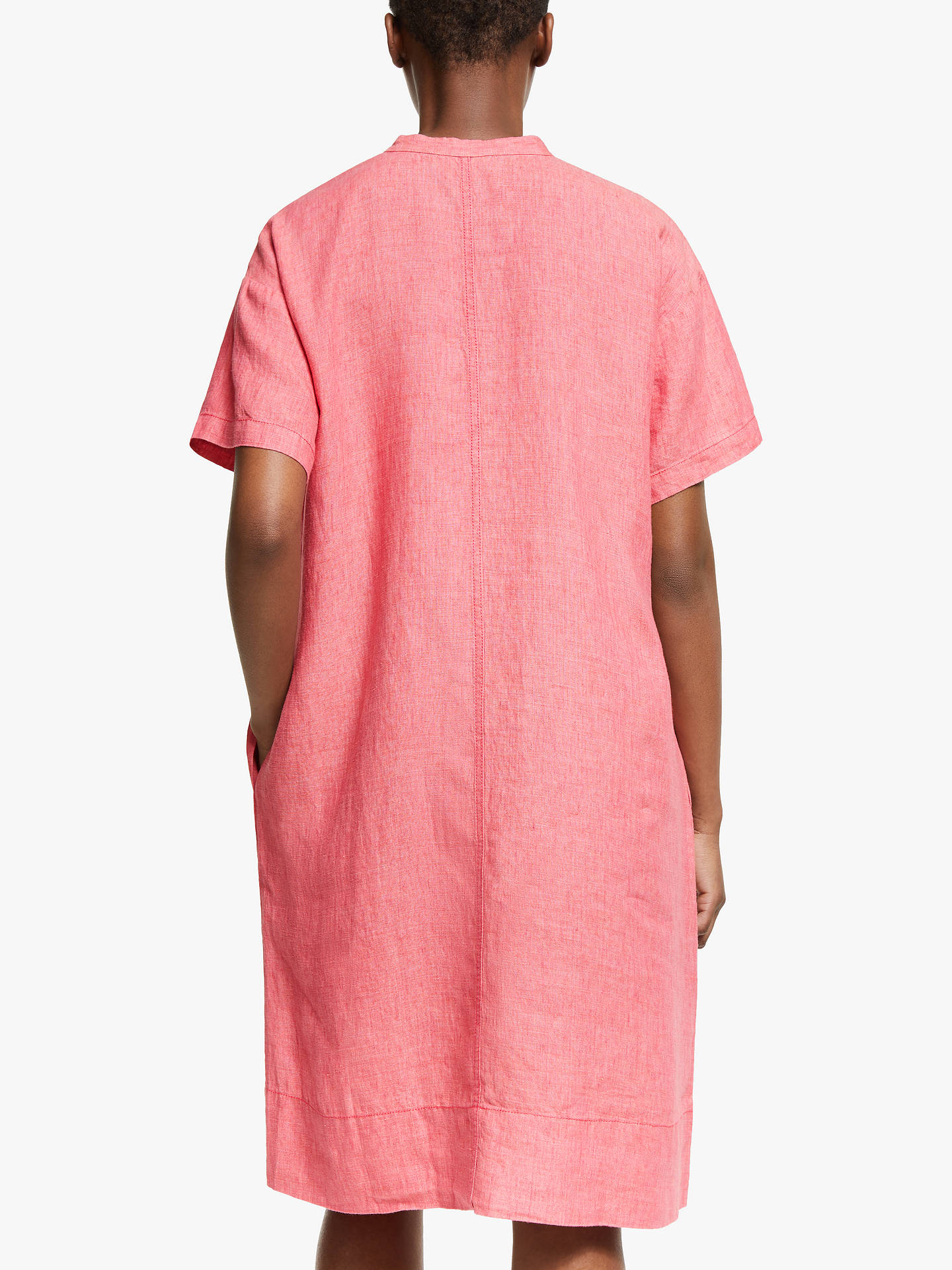 Buy EILEEN FISHER Linen Shift Dress, Bright Sandstone, XS Online at johnlewis.com