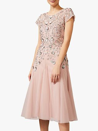 Phase Eight Collection 8 Celia Embellished Tulle Dress, Pale Pink
