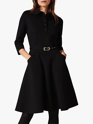 Phase Eight Enola Flared Shirt Dress, Black