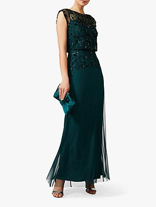 Phase Eight Elan Sequinned Dress, Jade