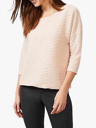 Phase Eight Elle Textured Top, Nude