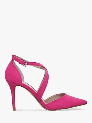 Carvela Kross 2 Stiletto Heeled Suede Court Shoes, Pink