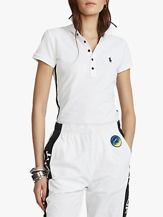 Polo Ralph Lauren Beaded Short Sleeve Polo Shirt, White