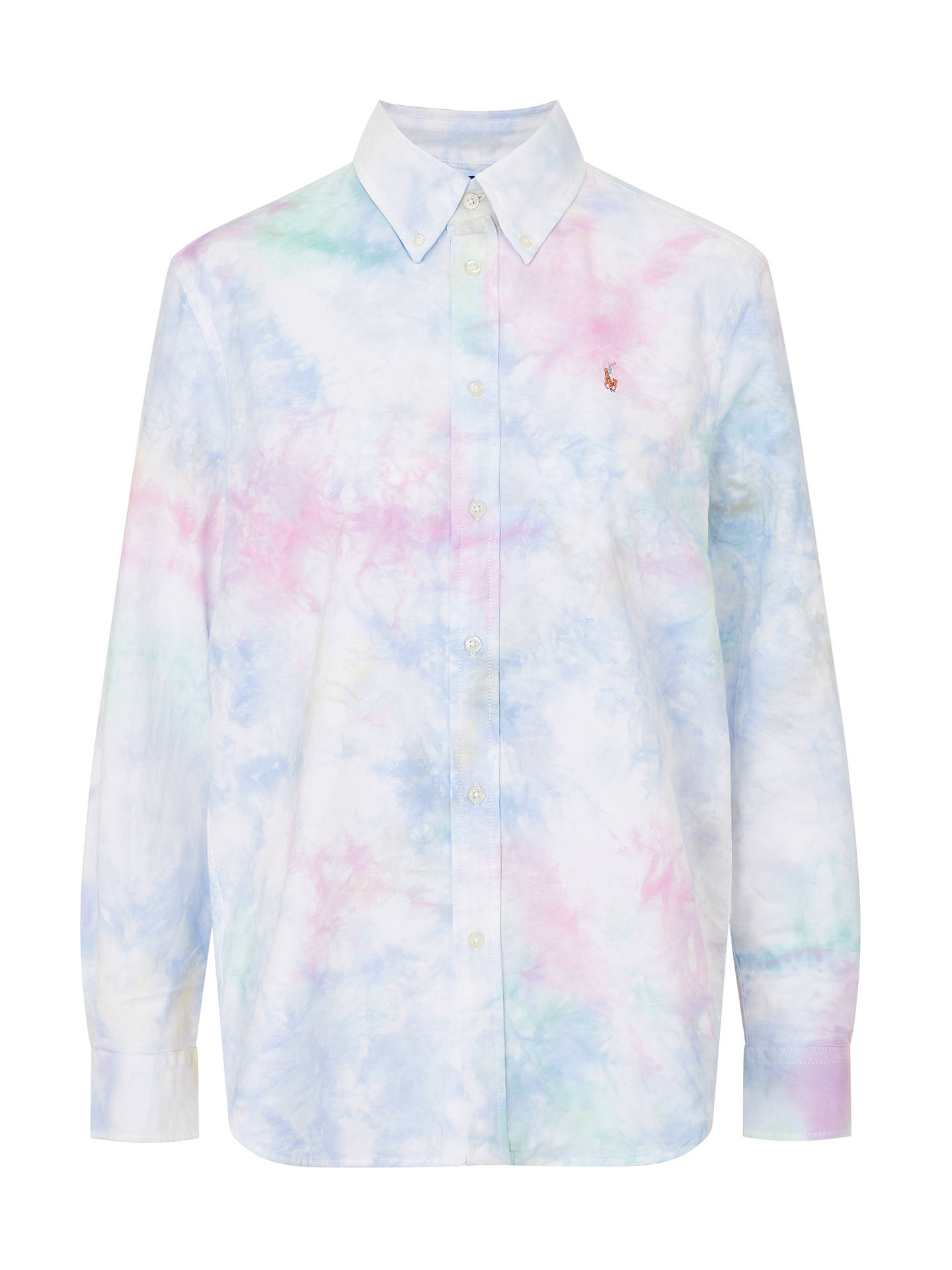 Buy Polo Ralph Lauren Relaxed Tie Dye Shirt, White/Multi, M Online at johnlewis.com