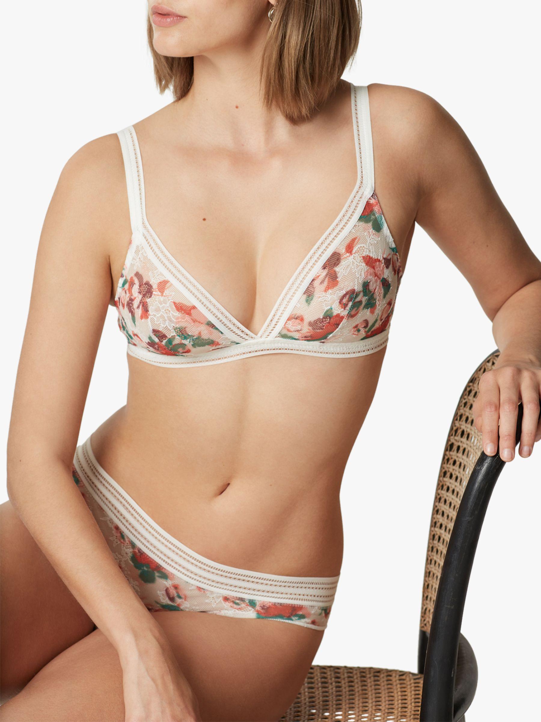 Maison Lejaby Maison Lejaby Miss Lejaby Bikini Tanga Briefs, White/Multi
