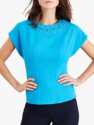 Damsel in a Dress Shelby Eyelet Top, Turquoise