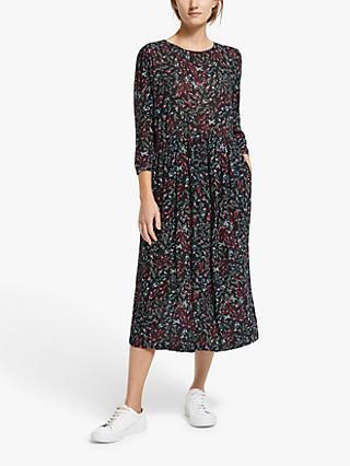 Collection WEEKEND by John Lewis Floral Print Midi Dress, Black