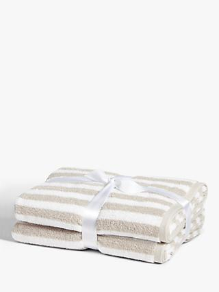 John Lewis & Partners Stripe Cotton Towels, Pack of 2