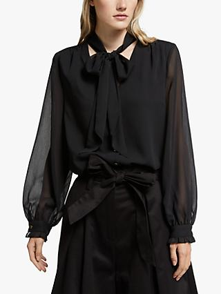 Somerset by Alice Temperley Tie Front Blouse, Black
