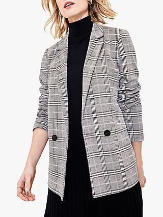 Oasis Check Single Button Blazer, Multi