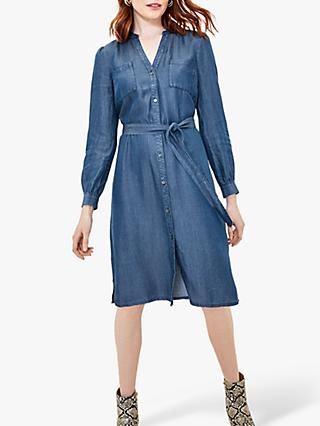 Oasis Chambray Shirt Dress, Dark Wash