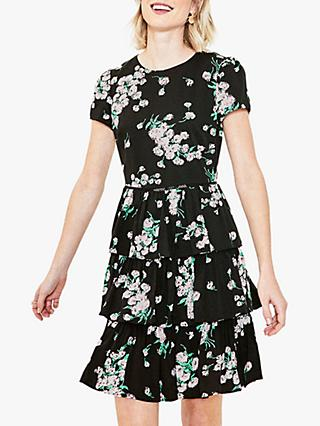Oasis Dandelion Rara Frill Dress, Black/Multi