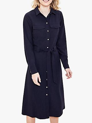 Oasis Shift Shirt Dress, Navy