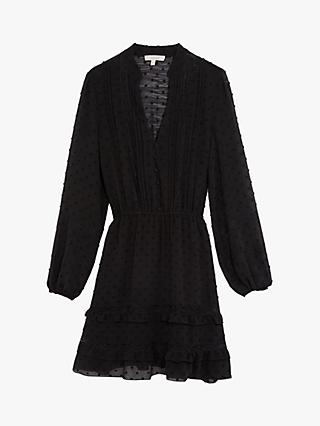 Oasis Dobby Shirt Dress, Black