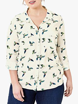 Oasis Curve Bird Print Shirt, Multi
