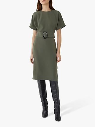 Warehouse Buckle Midi Shift Dress
