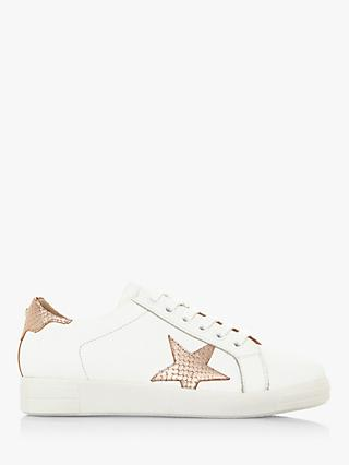 Dune Edris Leather Lace Up Star Trainers