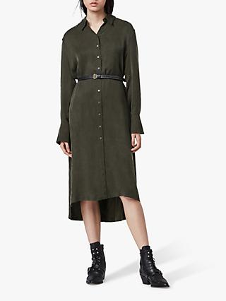 AllSaints Anya Shirt Dress, Military Green