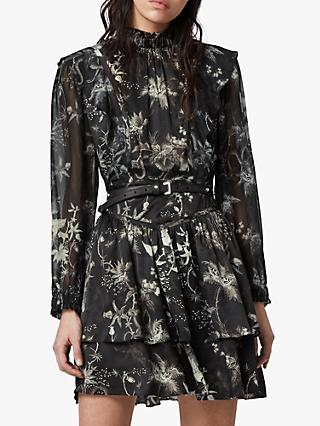 AllSaints Aislyn Evolution Dress, Black