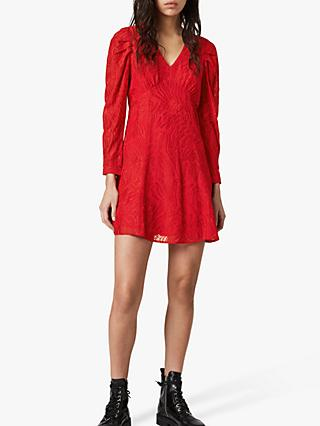 AllSaints Rosi Ani Dress, Red