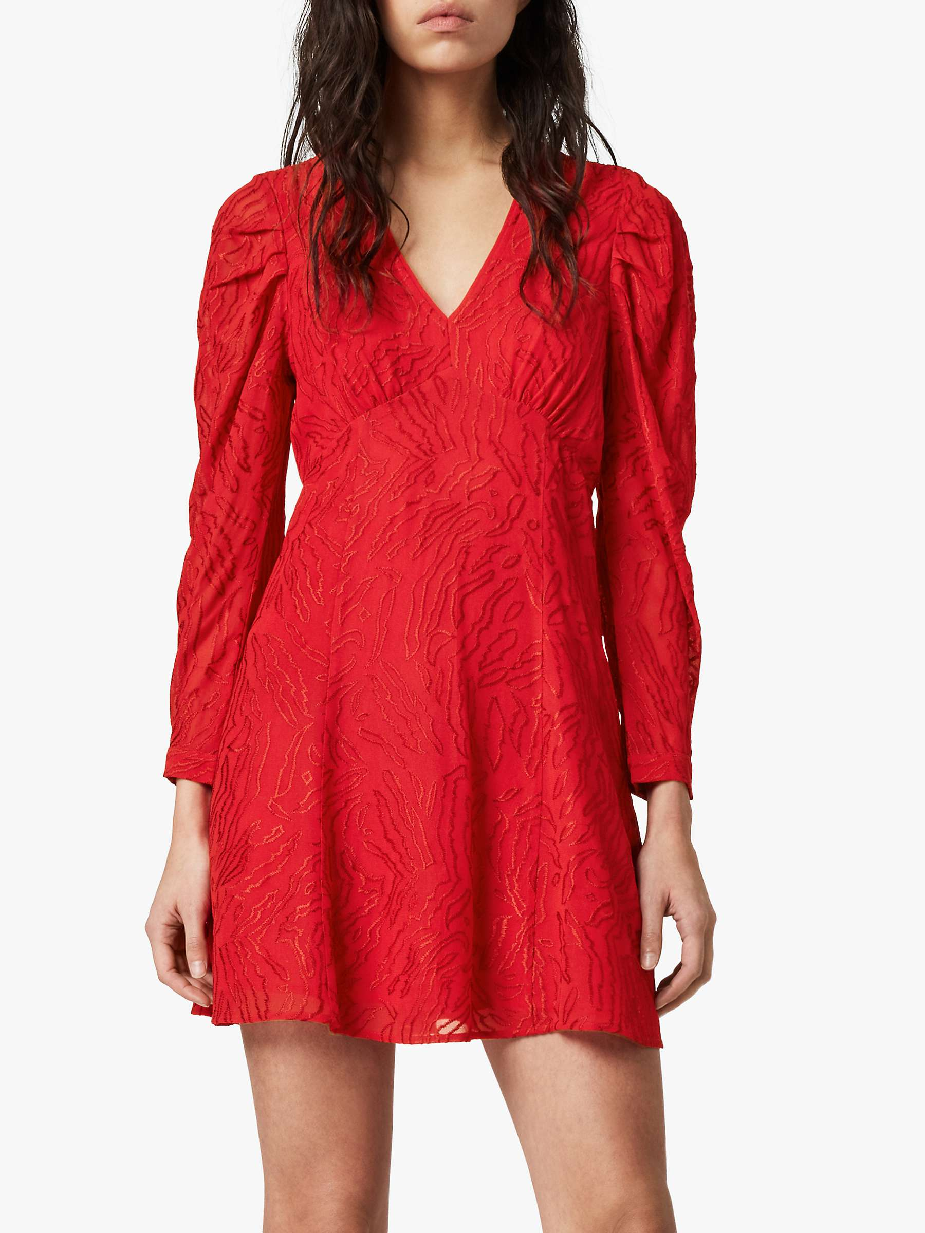 AllSaints Rosi Ani Dress, Red