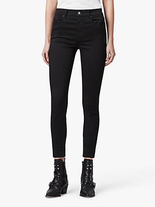 AllSaints Miller High Rise Skinny Jeans, Stay Black