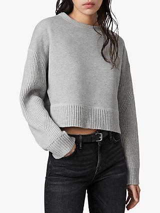 AllSaints Perla Wool Blend Jumper, Grey