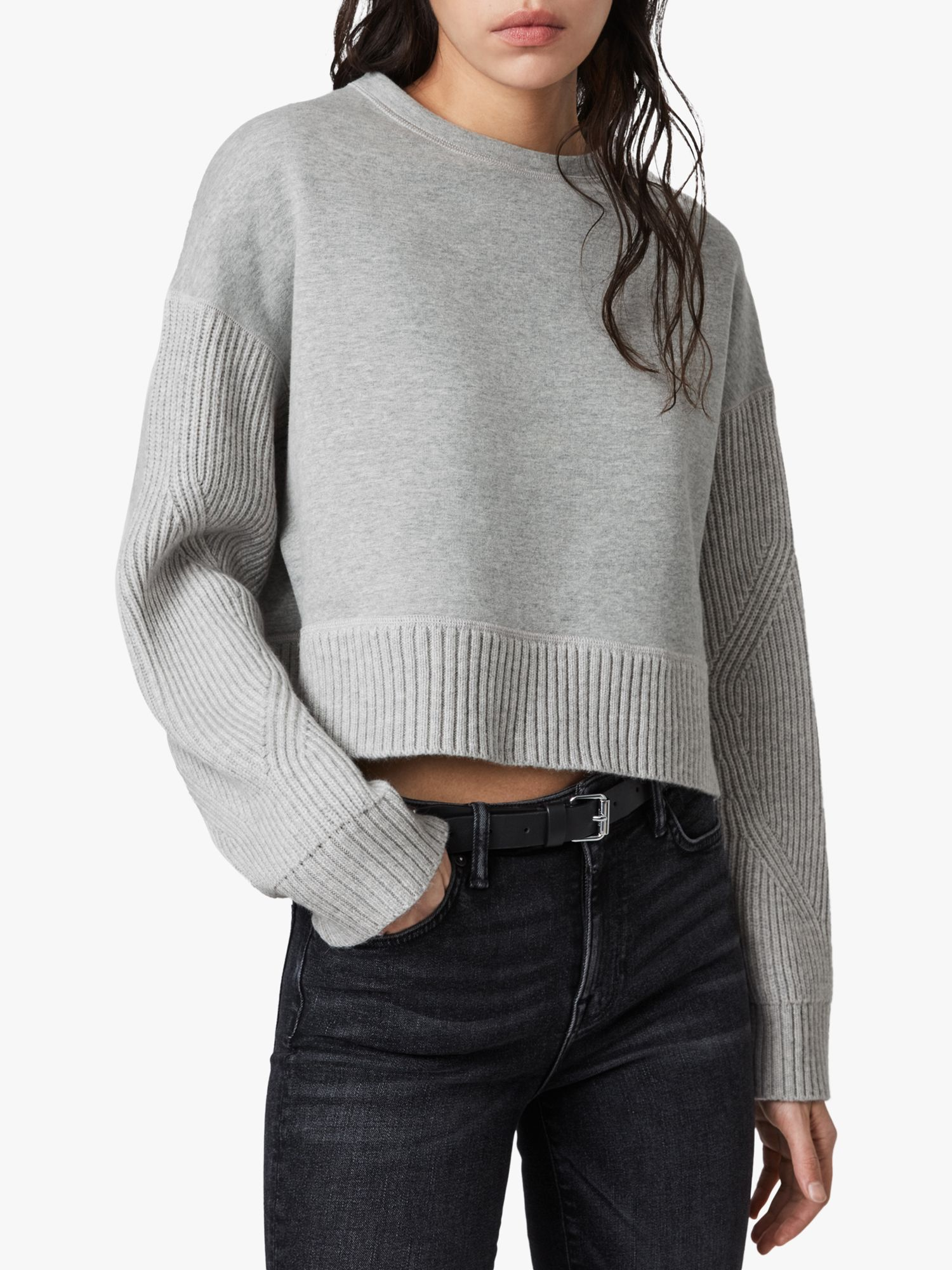 AllSaints AllSaints Perla Wool Blend Jumper, Grey