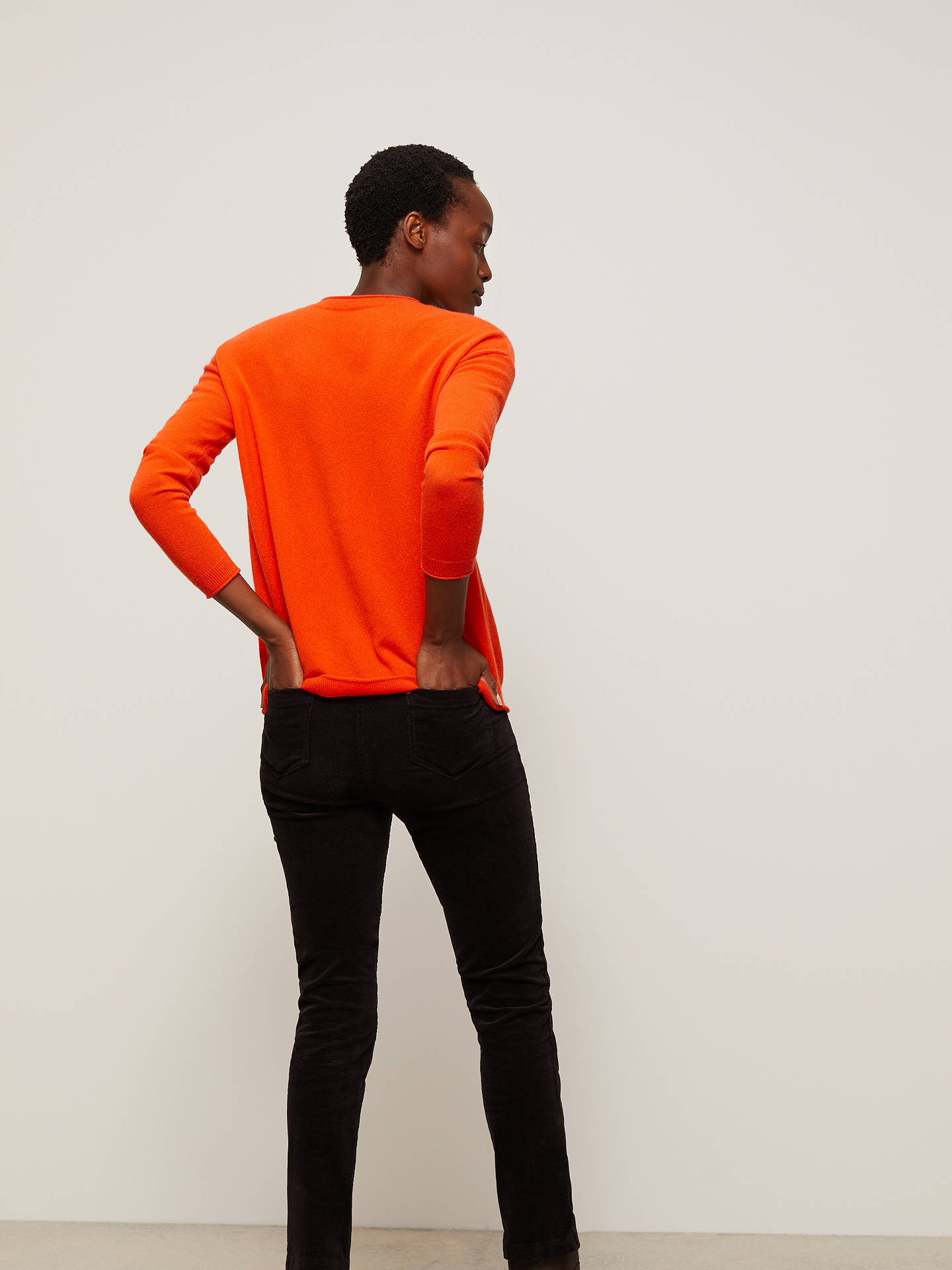 Buy John Lewis & Partners Cashmere Relaxed Crew Neck Jumper, Orange, 20 Online at johnlewis.com