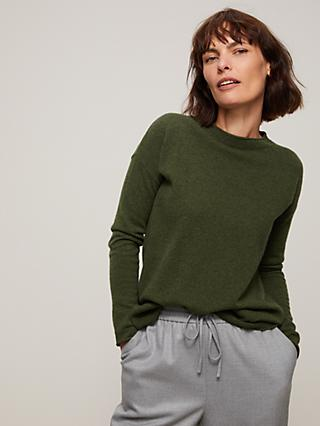 John Lewis & Partners Cashmere Relaxed Crew Neck Jumper