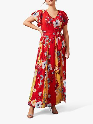 Studio 8 Valerie Floral Maxi Dress, Red/Multi