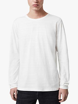 AllSaints Aldwin Long Sleeve Crew T-Shirt, Chalk White